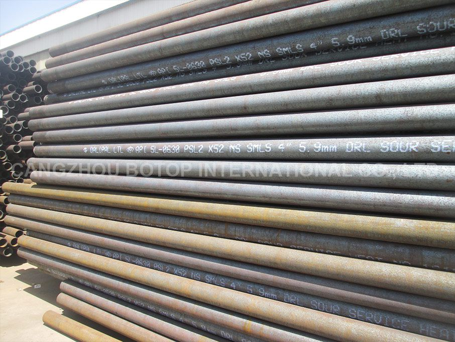 API 5L Gr.X52N PSL 2 Seamless Steel Pipe ACC.To IPS-M-PI-190(3) & NACE MR-01-75 for sour service