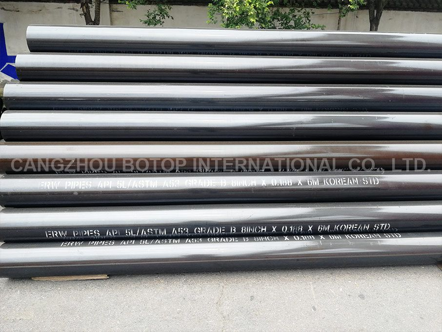 ASTM A53 Gr. A &Gr. B Carbon ERW Steel Pipe for high Temperature